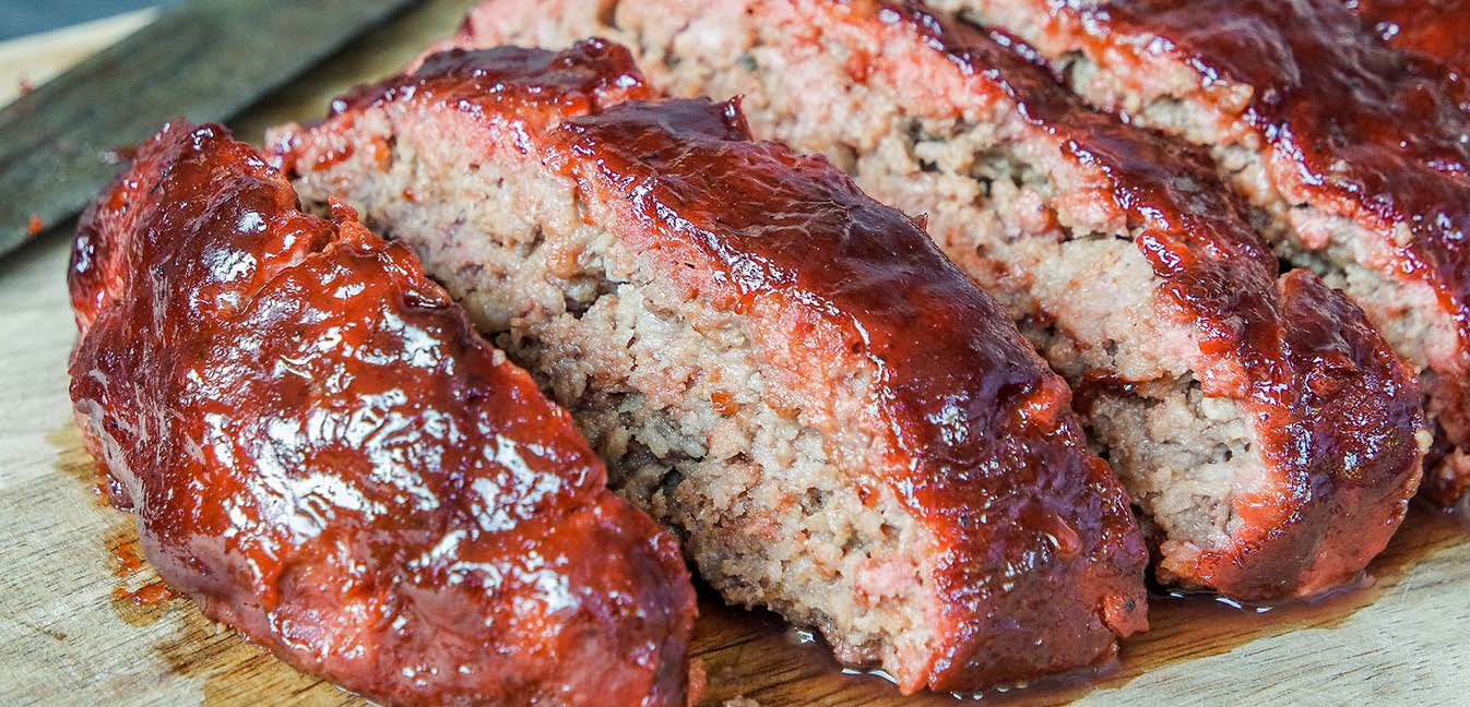 Smoked Meatloaf with BBQ Glaze
