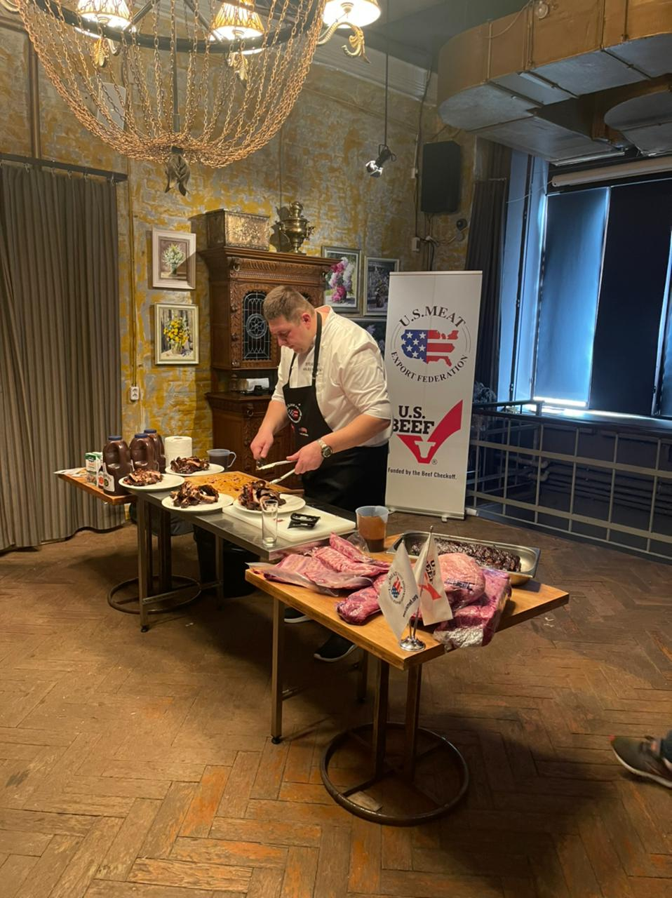 Master class American beef and pork for barbecue
