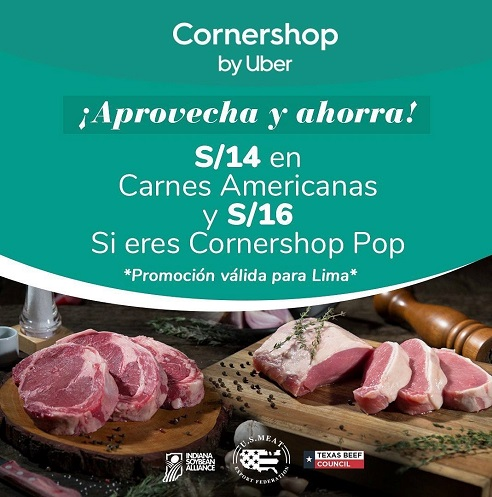 USMEF teamed with the Cornershop delivery app in Peru in a campaign promoting U.S. beef and pork